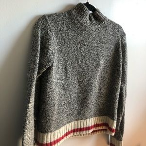 Roots Cabin Collection Mock Neck Knit Sweater (M)